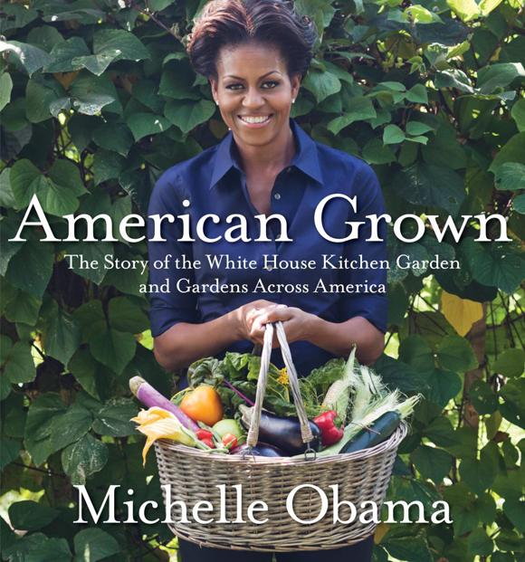 Michelle Obama en la huerta