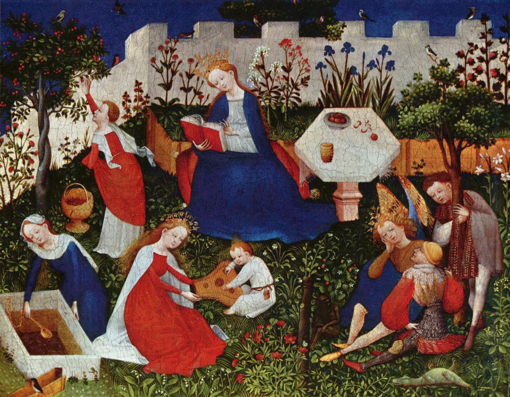 María en el hortus conclusus